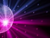 party lights disco ball poster