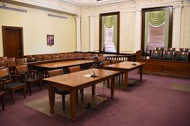 Courtroom, Wyandot County Courthouse, Upper Sandusky, Oh May 29, 2018, Filming Location For Shawshan