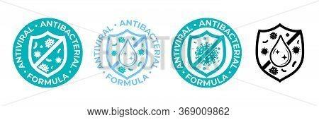 Antibacterial Hand Gel Icon, Anti Bacterial Antiseptic Wash, Vector Logo. Covid Coronavirus Clean Hy