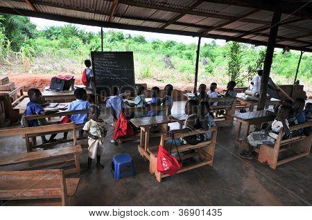Outdoor African Elementary School Classroom