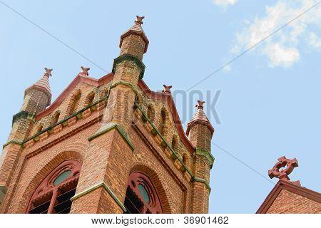 Historical church bellfry