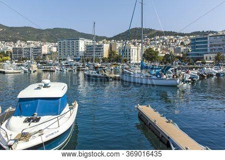 Coastal Steet Of City Of Kavala,  Greece