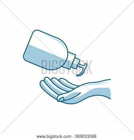 Washing Hand Illustration Sanitizer Liquid Soap Vector Icon