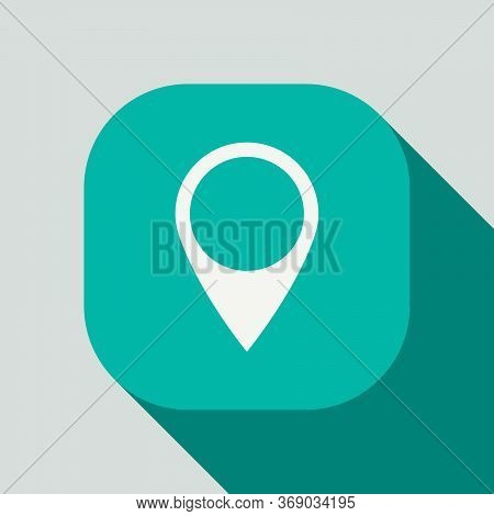 Gps Icon, Website Gps Button Vector Design Isolated On White Background. Websites  Essential Icon Co