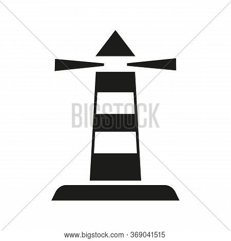 Icon Of Lighthouse Tower. Signal, Beacon, Navigational Aid, Marine. Transportation Concept. Can Be U