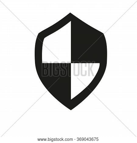 Icon Of Shield Board Piece. Armour Held, Passive Protection, Defense. Security Concept. Can Be Used