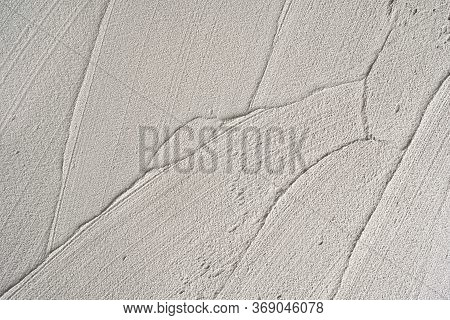 Gray Or Green Rough Abstract Stucco Texture For Background.surface Of Plaster Cement Concrete At Wal
