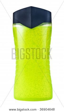 Green Shower Gel With Pearls In Bottle