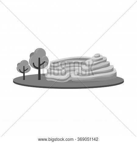 Vector Illustration Of Rice And Field Sign. Set Of Rice And Terrace Stock Symbol For Web.