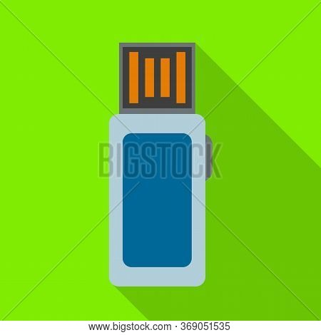 Vector Design Of Usb And Memory Icon. Web Element Of Usb And Pc Stock Symbol For Web.