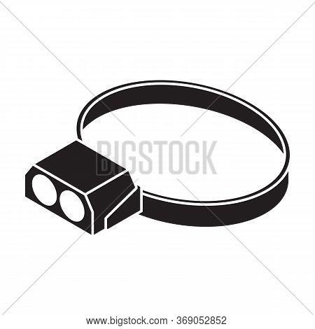 Flashlight Vector Icon.black Vector Icon Isolated On White Background Flashlight.