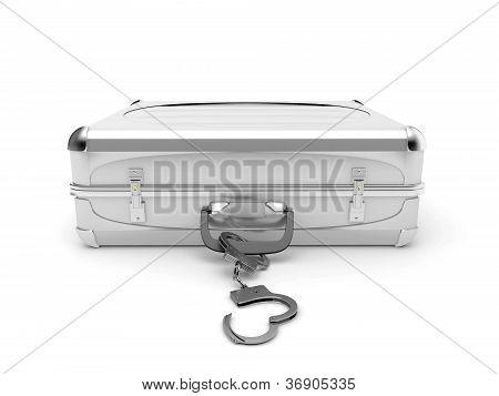 briefcase with handcuffs