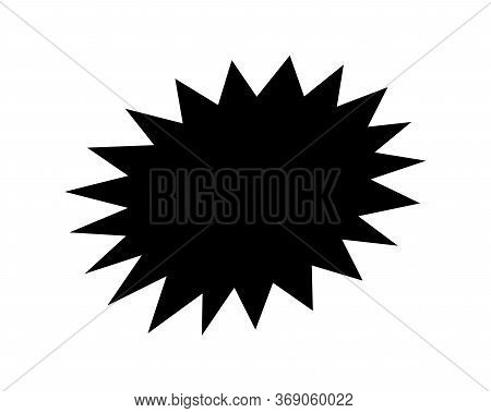 Stickers Black Star For Discount Price Message, Chat Label Serrated Shape, Comic Speech Bubbles, Ser