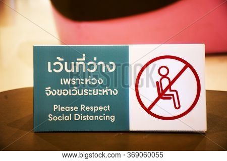 Social Distancing While Virus Outbreak At Department Store And Mall For Thai People And Travelers St