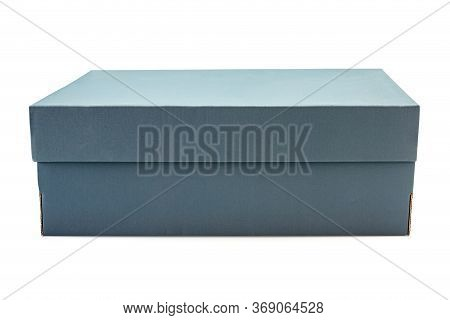 Gray Clardboard Box Isolated On White Background In Clouding Cliping Path.