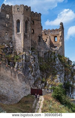 The Ruins Of The Middle Ages. Beckov Castle In Slovakia.