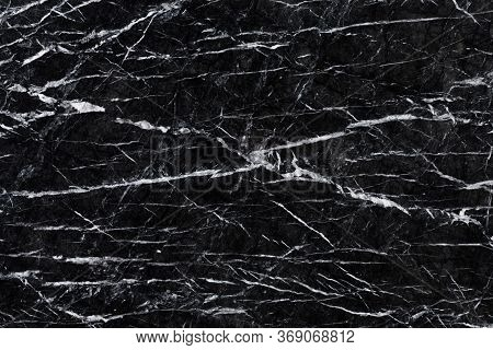 Abstract Natural Marble Black And White, Black Marble Patterned Texture Background.