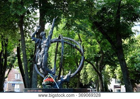Chernihiv, Ukraine, June 7, 2019. Monument To The Victims Of The Accident At The Chernobyl Nuclear P