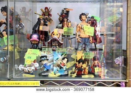 Tokyo, Japan - December 1, 2016: Gaming Figurines Collectible Store In Akihabara District Of Tokyo,