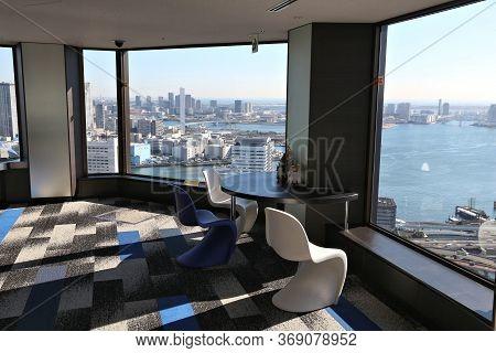 Tokyo, Japan - December 2, 2016: Tokyo City View From World Trade Center Observation Deck. The Deck