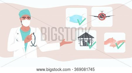 Doctor Explaining Basic Protective Measures Coronavirus Prevention Protect Yourself From 2019-ncov H