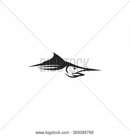 Fishing Logo Design With Using Marlin Fish Icon Vector Template
