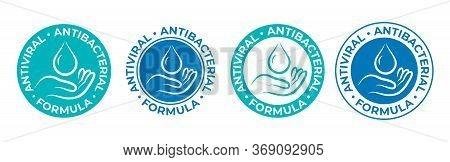 Antibacterial Sanitizer Icon, Anti Bacterial Hand Gel, Antiseptic Wash, Vector Logo. Covid Coronavir