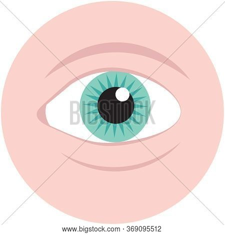 Icon Of Eyes, Vector Flat Illustration, Symbols For Web. Part Of Human Body
