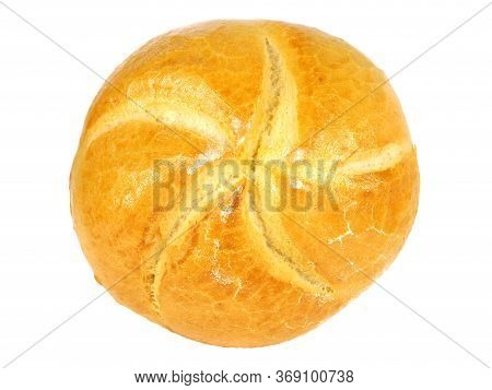 Kaiser Roll Bread Isolated On White Background