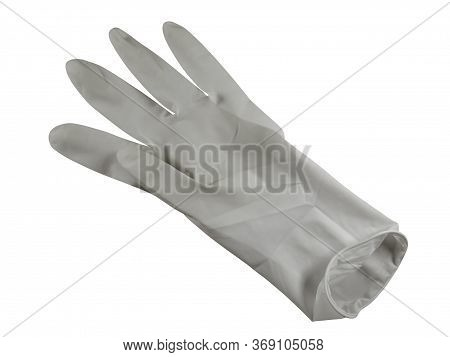 Medical Rubber Glove, Isolated On White Background. Clipping Path Included.
