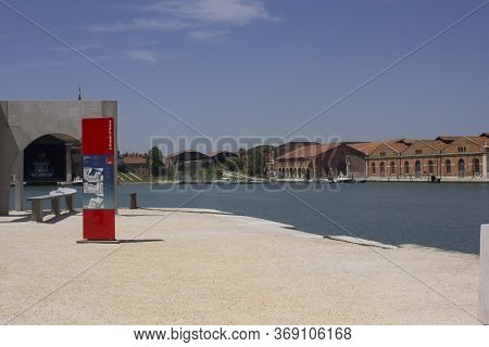 Venice, Italy - May 28 2016: Inside The Venice Arsenale Complex During The Architecture Biennale In