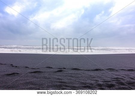 The black sand beach ,Iceland