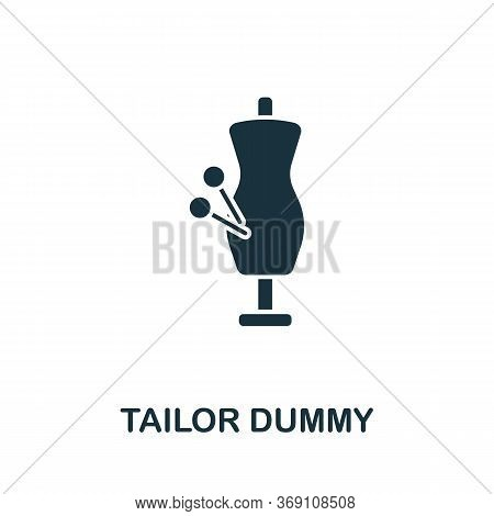 Tailor Dummy Icon. Simple Illustration From Sewing Equipment Collection. Creative Tailor Dummy Icon