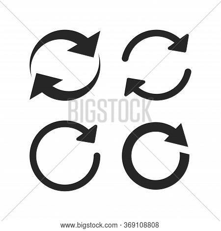 Simple Refresh Icon, Reload, Redo, Arrow Icon Isolated Vector Illustration