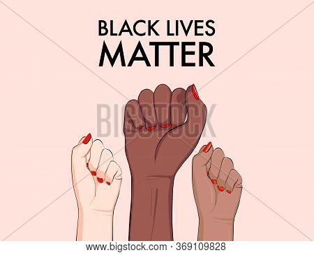 Stop Racism, Multiethnic Equality Concept, Diverse Respect Poster. Tolerance Woman Hands Gesture, Ar