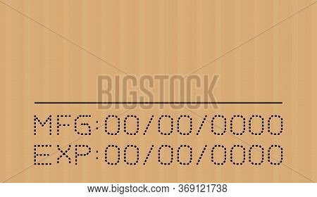 Expired Date Type On Corrugated Cardboard Brown, Expire Font On Carton Box, Expiration Type Detail S