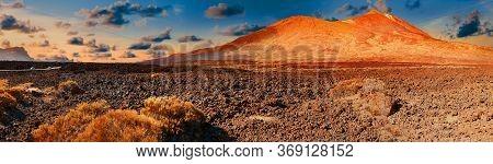 Nature Volcanic Landscape.landmark In Spain.teide Volcano In Canary Island.tenerife National Park