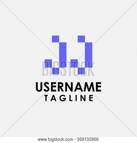 Jj Alphabet Letter Join Joined Letter Logo Design Vector
