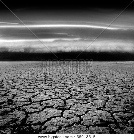 Storm Approaching Parched Earth