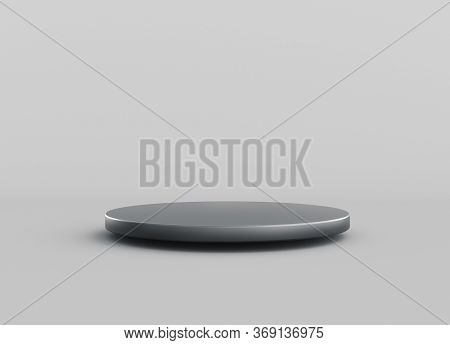 Pedestal Geometric Or Cylindrical Podium Minimal Studio Background For Show Product. 3d Rendering