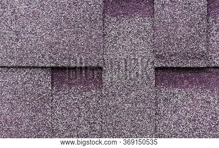 Texture Of Flexible Tiles For The Roof Flooring Of The House. Flexible, Soft, Bituminous Composite M