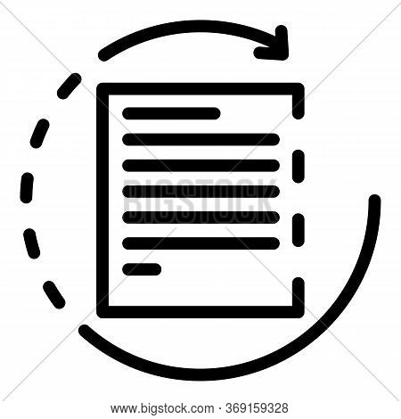 Cycle Of Office Document Icon. Outline Cycle Of Office Document Vector Icon For Web Design Isolated