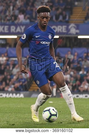 London, England - April 22, 2019: Callum Hudson-odoi Of Chelsea Pictured During The 2018/19 Premier