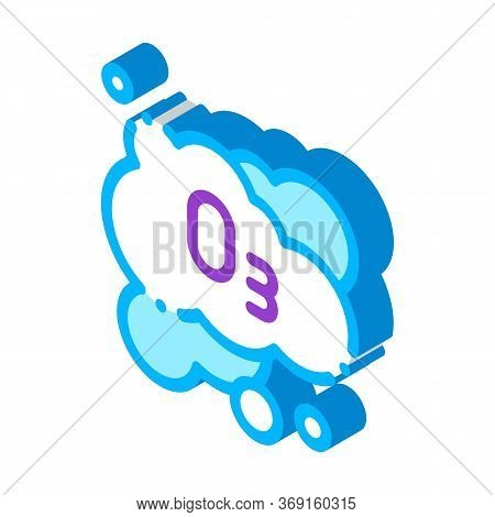 Laundry Service Ozon Foam Vector Isometric Sign. Color Isolated Symbol Illustration
