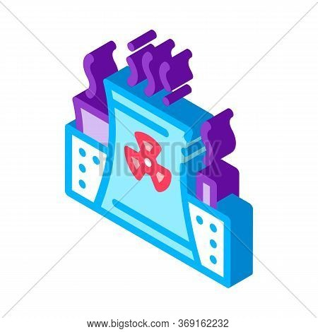 Generating Atomic Plant Vector Isometric Sign. Color Isolated Symbol Illustration