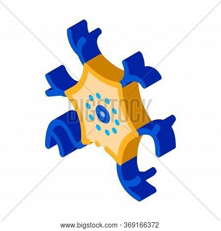Microscopic Virus Bacterium Vector Isometric Sign. Color Isolated Symbol Illustration