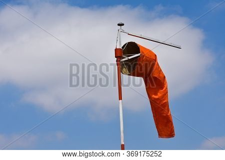 Bright Orange Airport Wind Indication Sock, Pretoria, South Africa