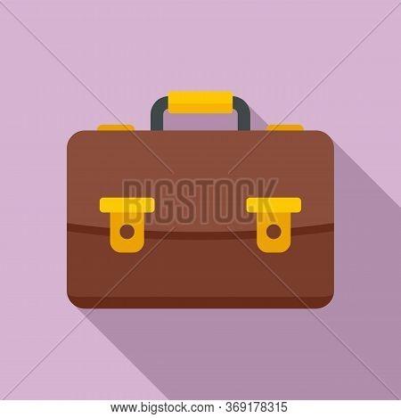 Tutor Leather Bag Icon. Flat Illustration Of Tutor Leather Bag Vector Icon For Web Design
