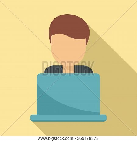 Tutor Online Icon. Flat Illustration Of Tutor Online Vector Icon For Web Design