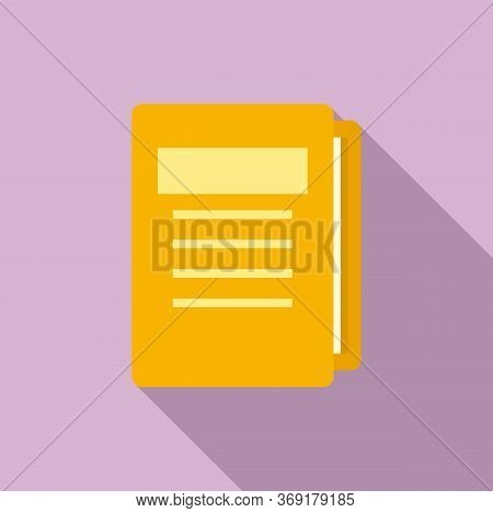 Tutor Lesson Folder Icon. Flat Illustration Of Tutor Lesson Folder Vector Icon For Web Design